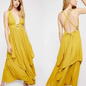 New Free People Just Right For You Maxi Dress S